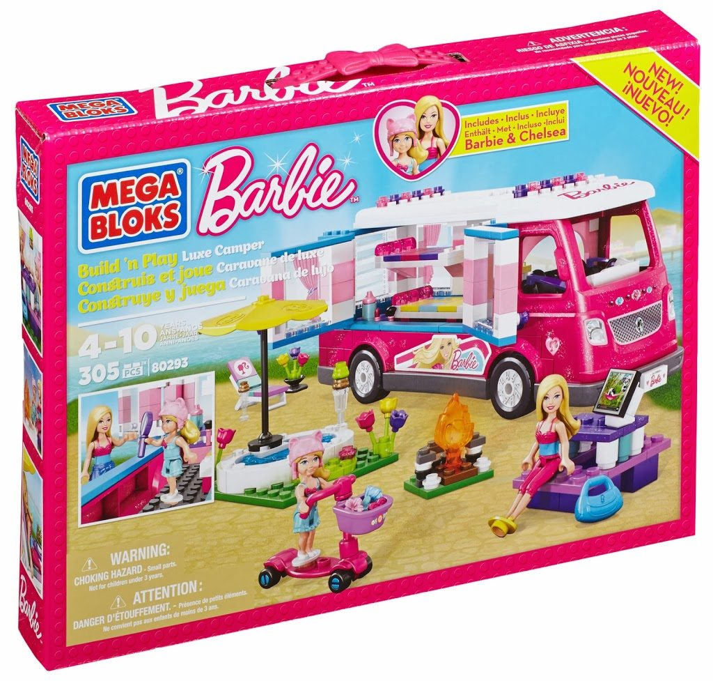 Giveaway & Review: Mega Bloks Barbie™ Build 'n Play Luxe Camper!