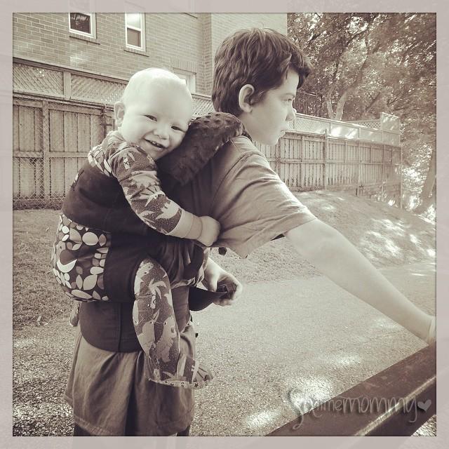 Babywearing Brother