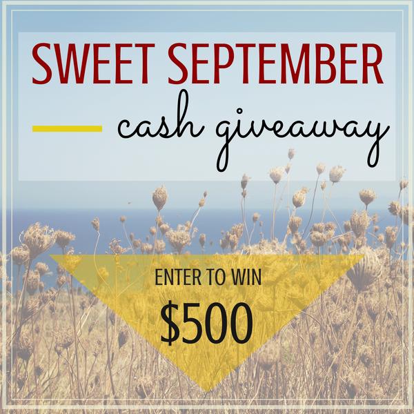 Sweet September CASH Giveaway!