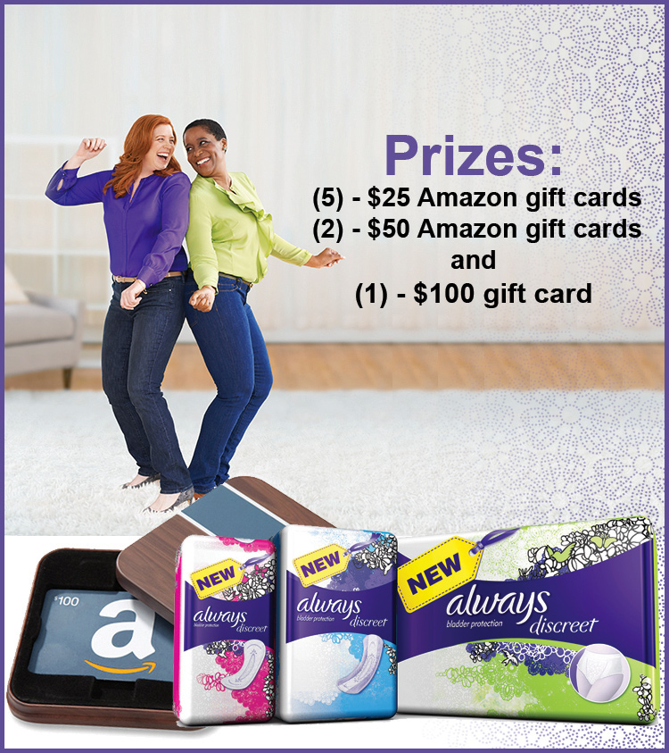 Always Discreet & Your Life After 25 Giveaway and Twitter Party.. Because #PeeHappens