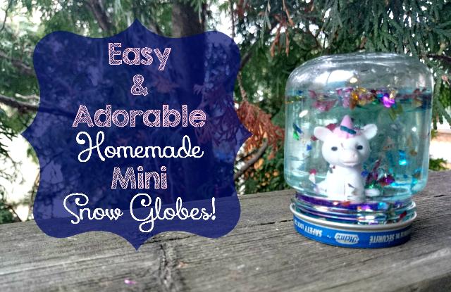 Easy adorable homemade mini snow globes six time for Easy homemade christmas snow globes