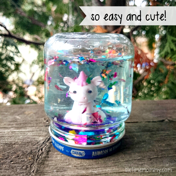 Easy Adorable Homemade Mini Snow Globes Six Time Mommy And