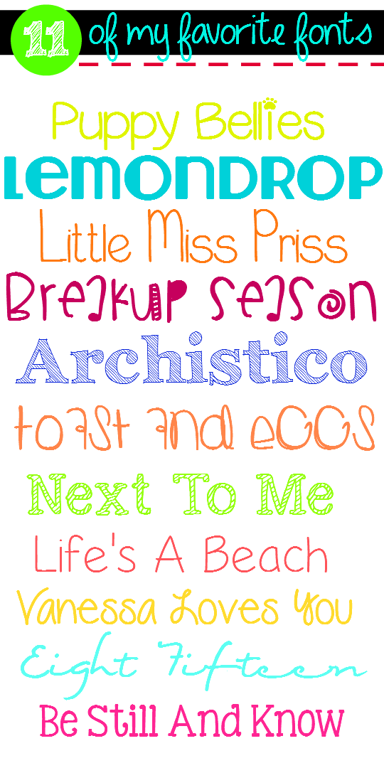 11 Of My Favorite {FREE} Fonts!