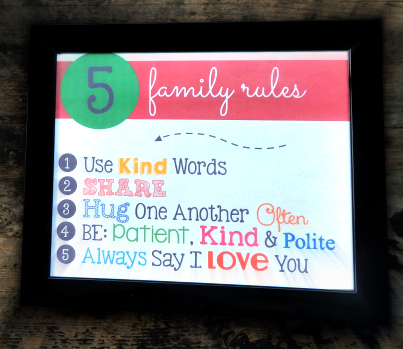 How to Create Family Rules & Stick To Them {With Free Printable!}