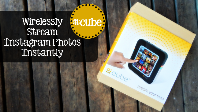 #Cube Review: Stream Instagram Photos wirelessly and instantly with this amazing product called #cube. Read my review to see why this is a MUST HAVE for any instagram lover. - sixtimemommy.com