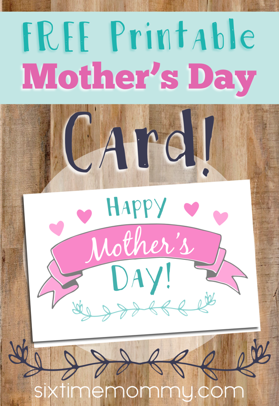 7 Ways to Get Children Involved This Mother's Day + FREE Printable Mother's Day Card!