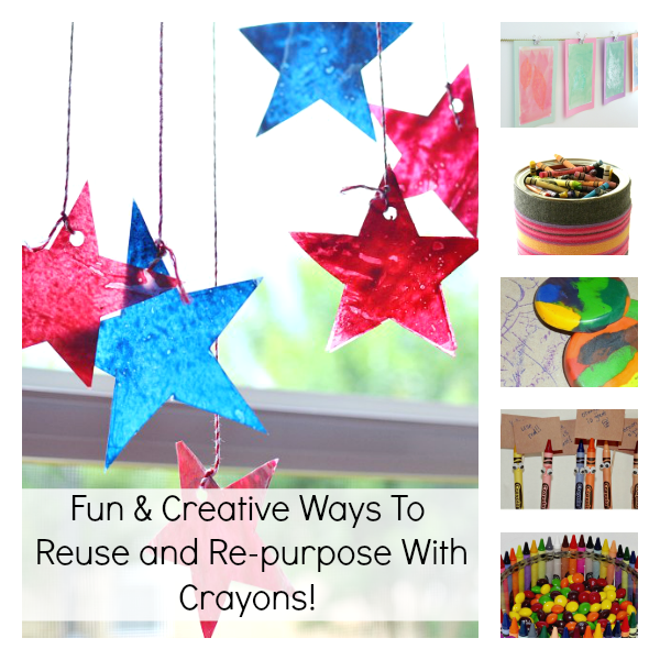 Fun & Creative Ways To Reuse and Repurpose With Crayons!