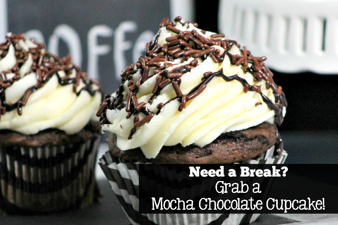Need a Break? Grab a Mocha Chocolate Cupcake!