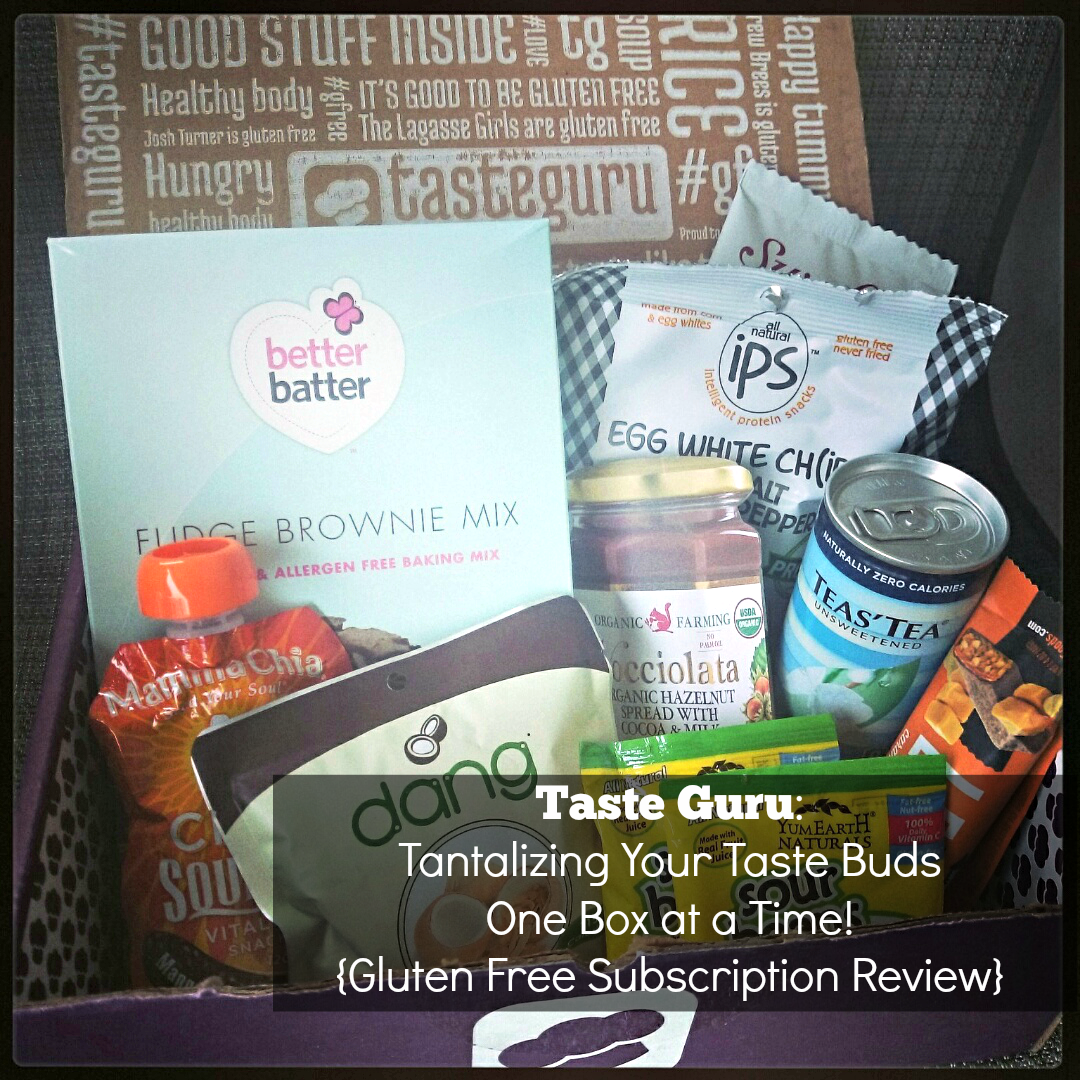 Gluten Free: Taste Guru is the monthly subscription box for you A box full of GF goodness right to your door EVERY month! - sixtimemommy.com
