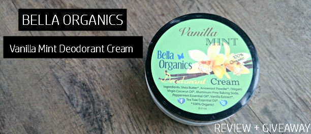 Bella Organics Vanilla Mint Deodorant Cream - Review + Giveaway! - sixtimemommy.com