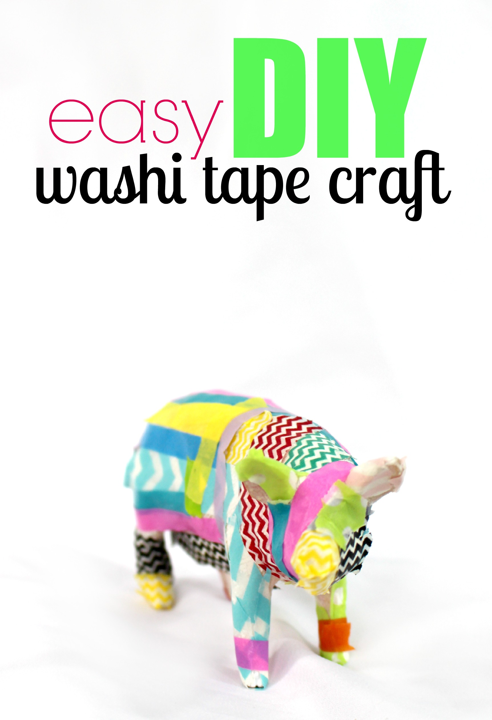 Easy DIY Washi Tape Craft