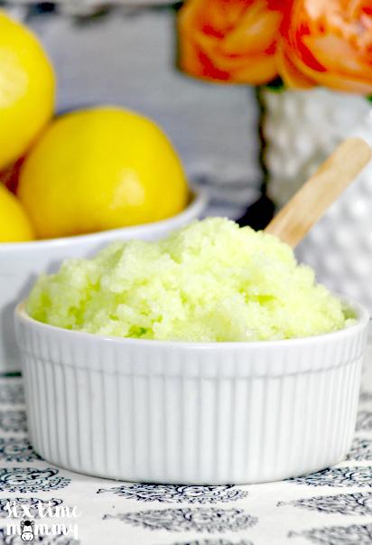 DIY Lemon Body Scrub
