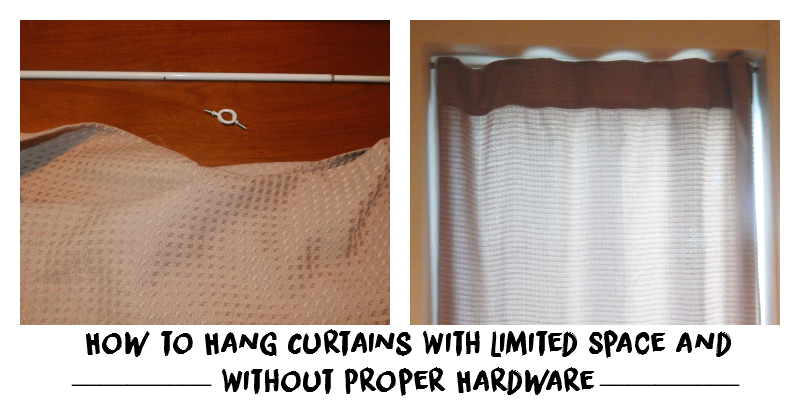 How to Hang Curtains With Limited Space and Without Proper Hardware | #YouGotThis With Canadian Tire