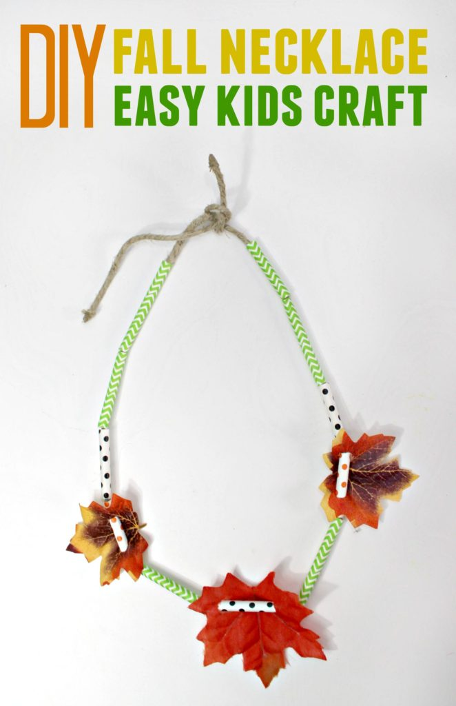 Fun & Easy Fall Necklace Craft for Kids - sixtimemommy.com