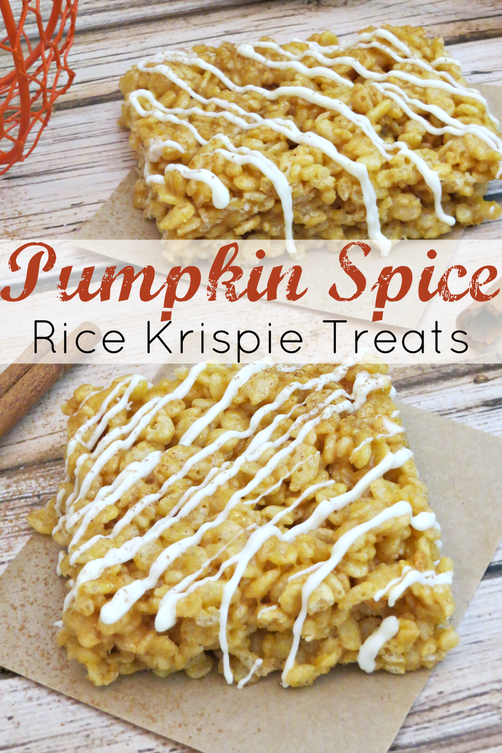 Pumpkin Spice Rice Krispie Treats - Six Time Mommy and ...