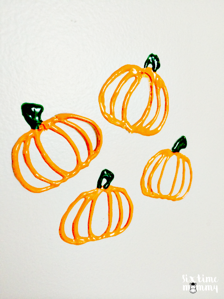 Homemade Pumpkin Window and Wall Clings