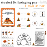 Canadian Thanksgiving This Weekend | Free Turkey Day Kids (Pre-K – K) Printable Pack