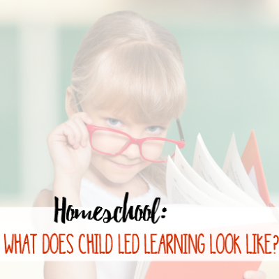 Homeschool: What Does Child Led Learning Look Like?