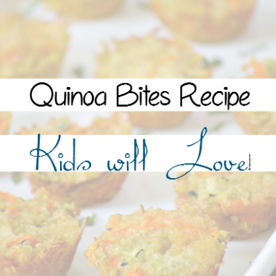 Quinoa Bites the kids will LOVE!