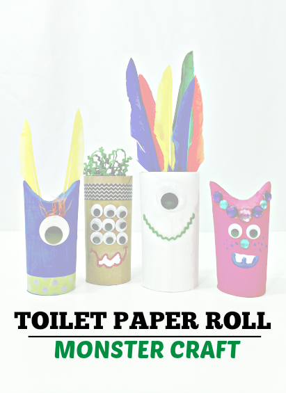 Toilet Paper Roll Monster Craft