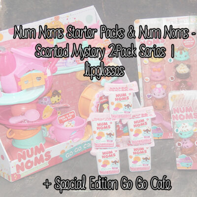 Num Noms Starter Packs & Num Noms – Scented Mystery 2-Pack Series 1 Lipglosses + Special Edition Go Go Cafe
