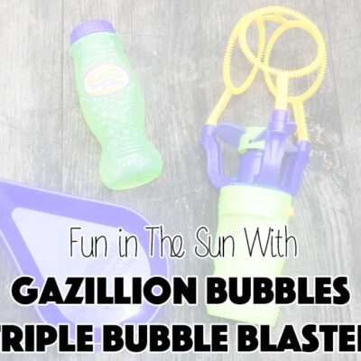Fun in The Sun With Gazillion Bubbles Triple Bubble Blaster