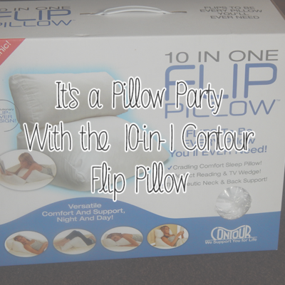 It's a Pillow Party With the 10-in-1 Contour Flip Pillow #FlipInToComfort