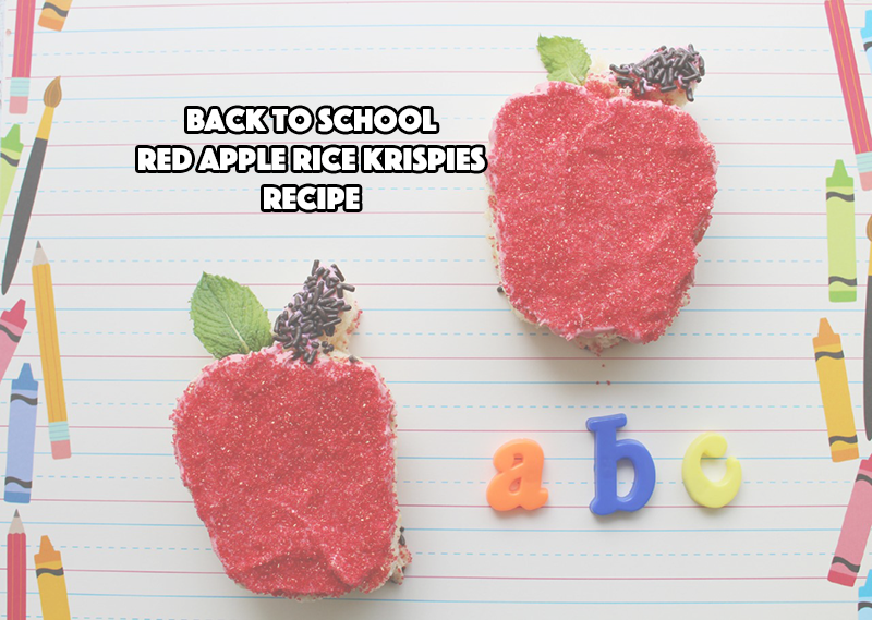 Back To School Red Apple Rice Krispies Recipe