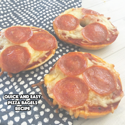 Quick and Easy Pizza Bagels Recipe