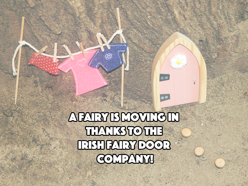 A fairy is moving in thanks to the irish fairy door for The irish fairy door company facebook