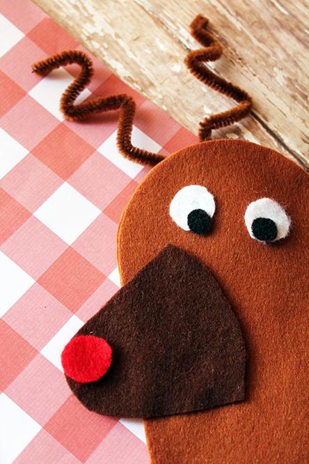 Rudolph Felt Hand Puppet Craft