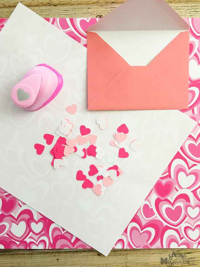 DIY Valentines Day Card Confetti Six Time Mommy And
