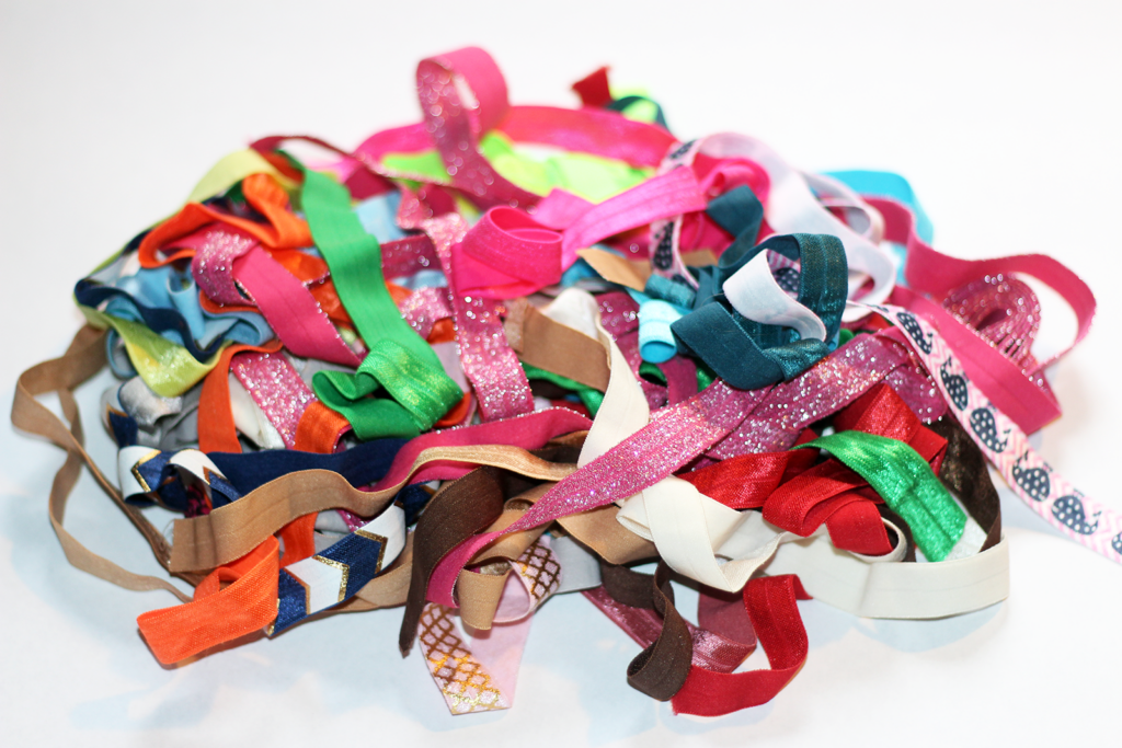 Save Money and DIY Your Very Own Fold Over Hair Elastics
