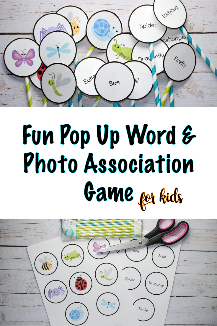 fun pop up word and photo association game free printable six