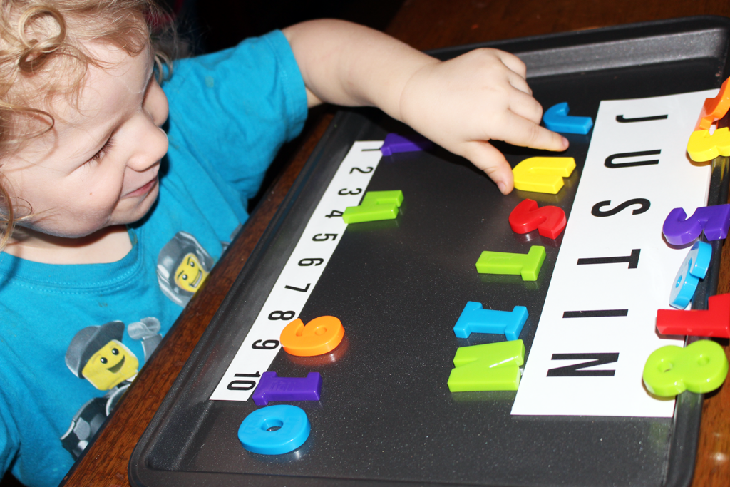 Inexpensive Preschool Idea: Teach Names and Numbers