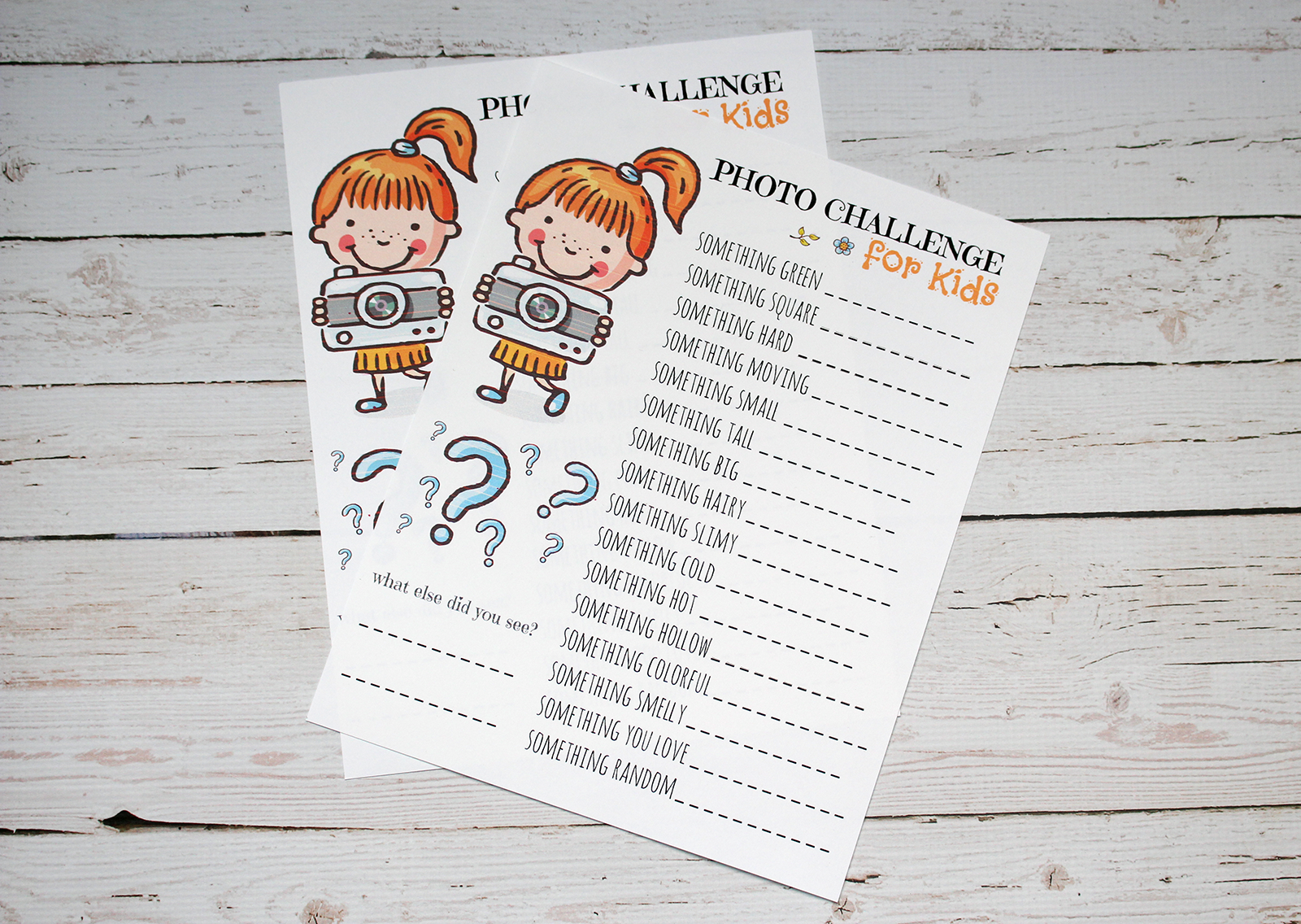 Free Photo Challenge Printable for Kids