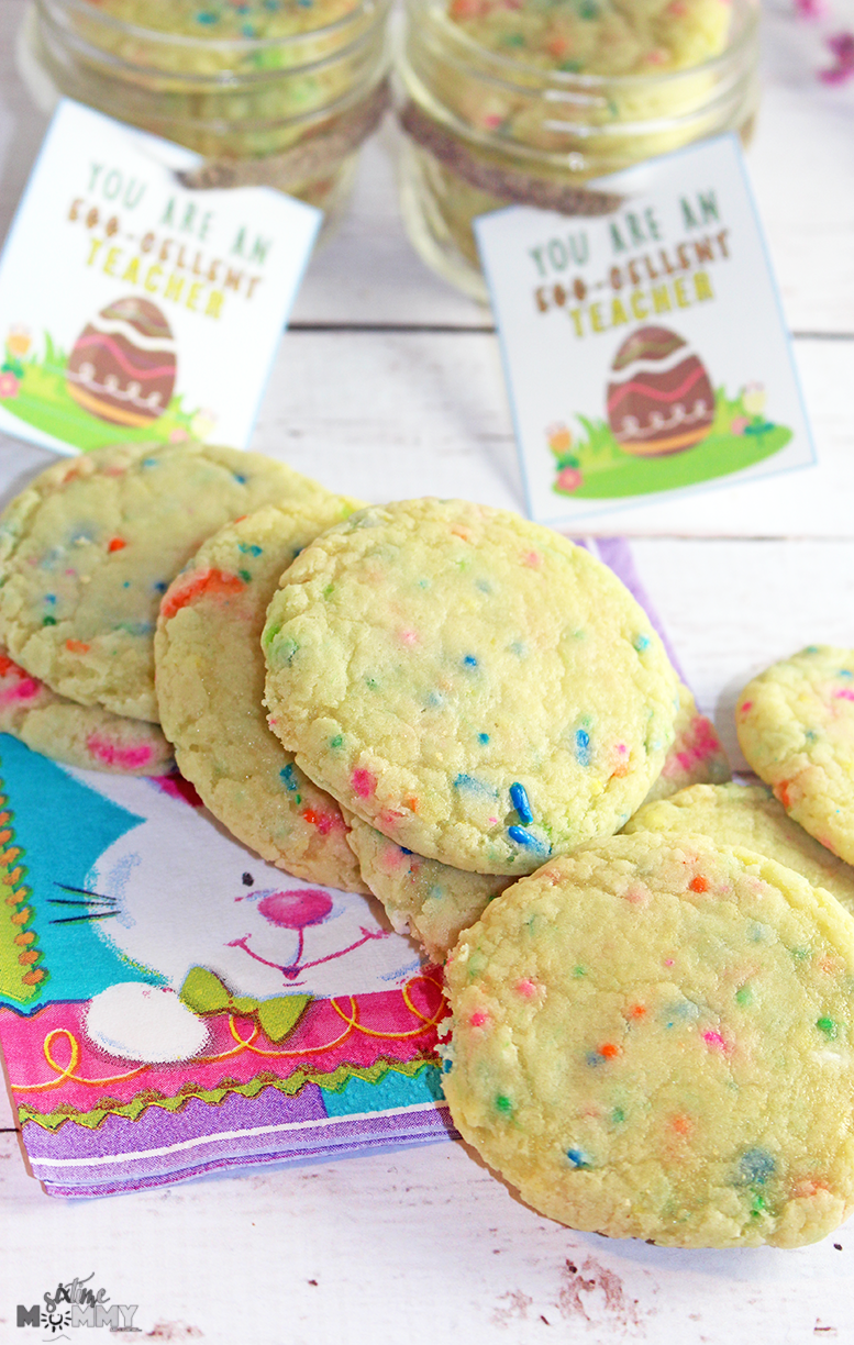 Teacher easter gift idea free teachers card printable six time they are sprinkle pudding cookies they are soft and oh so dreamy i decided to make this more of a personal gift sometimes homemade is the negle Gallery