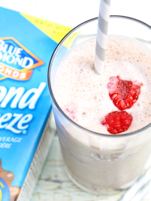 Raspberry Chocolate Almond Breeze Shake: Only 3 Ingredients