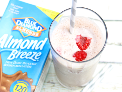 Raspberry Chocolate Almond Breeze Shake: Only 3 Ingredients