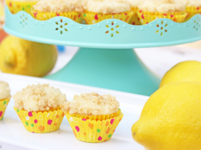 Mini Lemon Iced Tea Streusel Muffins