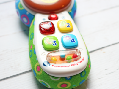Keeping Little Ones Entertained With the Peek-a-Bear Baby Phone™ by Vtech