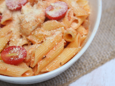 Gluten-Free Penne With Chicken in a Sweet and Savory Rosé Sauce