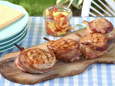 Bacon Wrapped Medallion Recipe + GIVEAWAY! #GrillCDNTurkey