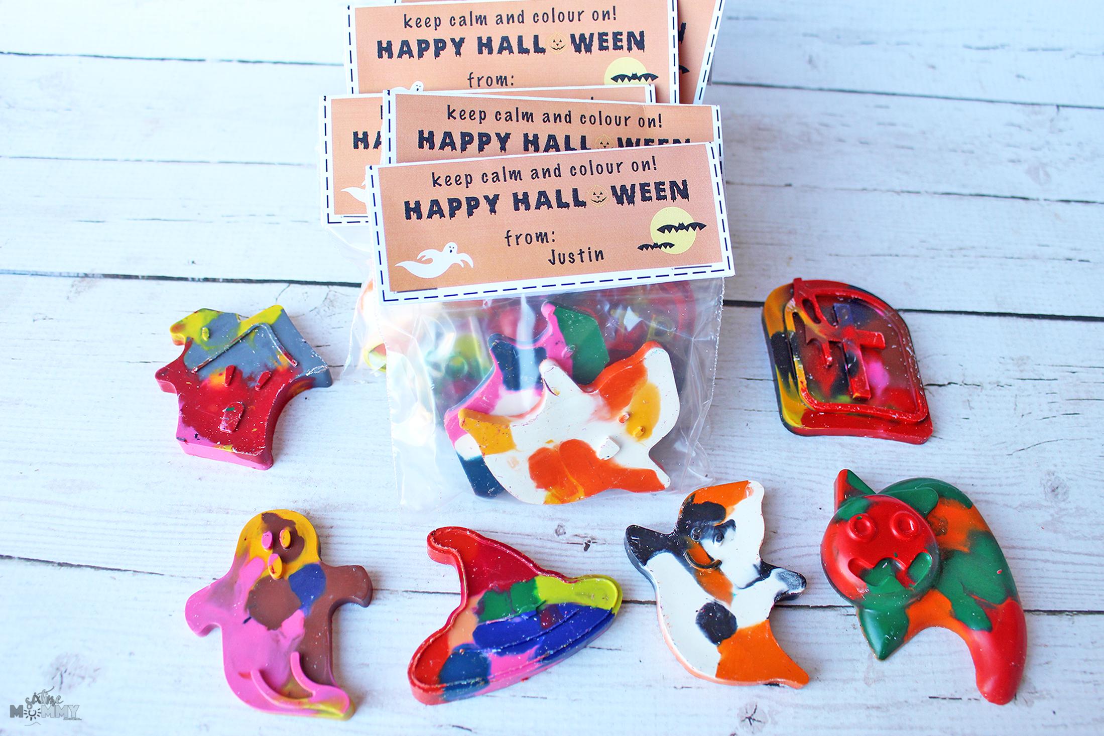 Non-Candy Halloween Classroom Treats + Free Printable! - sixtimemommy.com