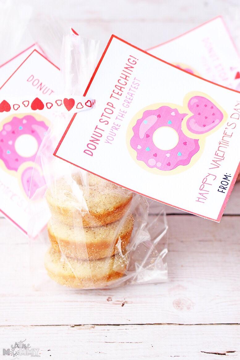 Teacher Valentine's FREE Printable - Donut Stop Teaching! - sixtimemommy.com