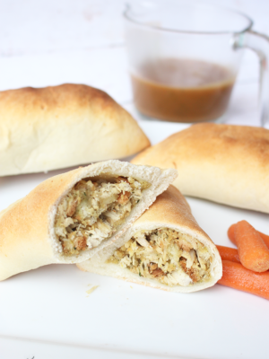 What to do With Holiday Leftovers: Turkey and Stuffing Pockets!