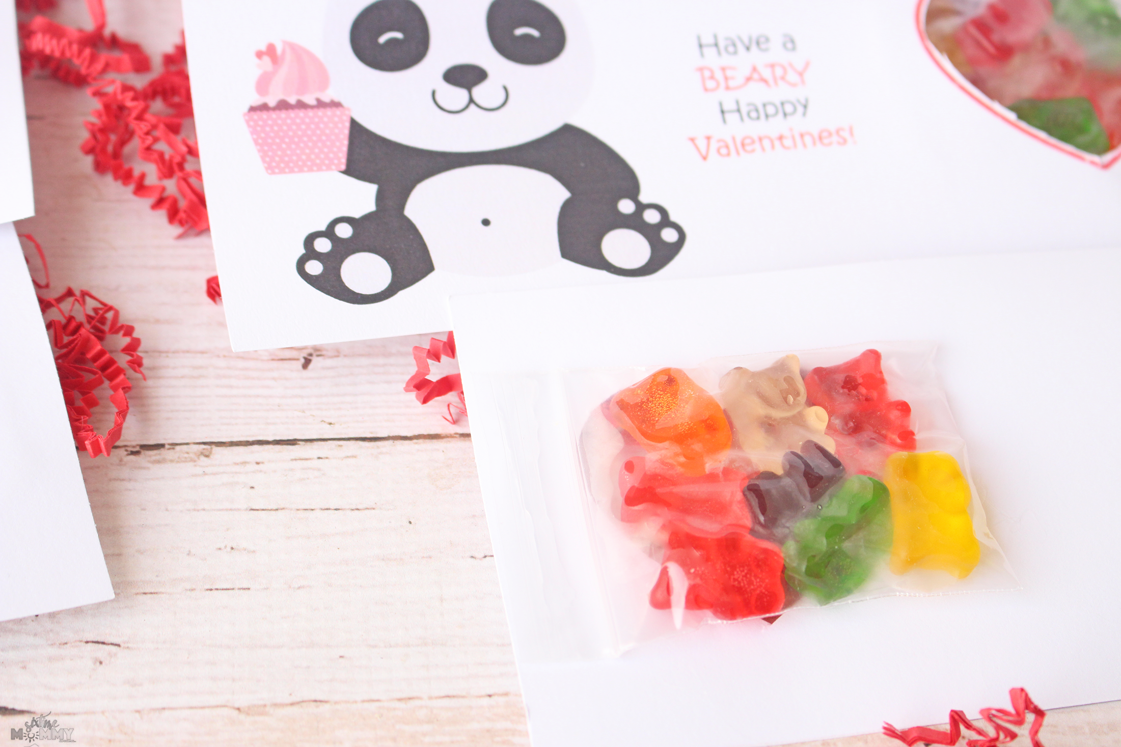 DIY Valentine's Gummy Bear Treats With FREE Printable - sixtimemommy.com