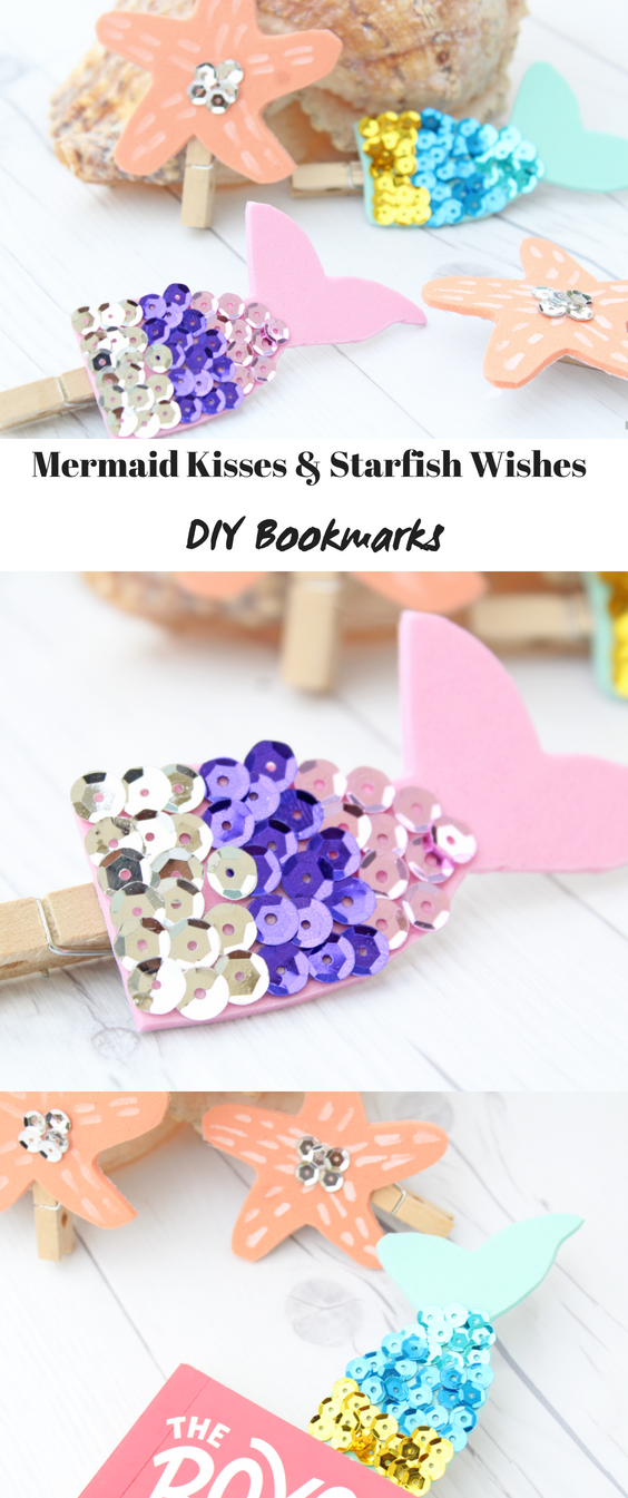 "Mermaid Wishes and Starfish Kisses DIY Bookmarks"" /></div> <div class="