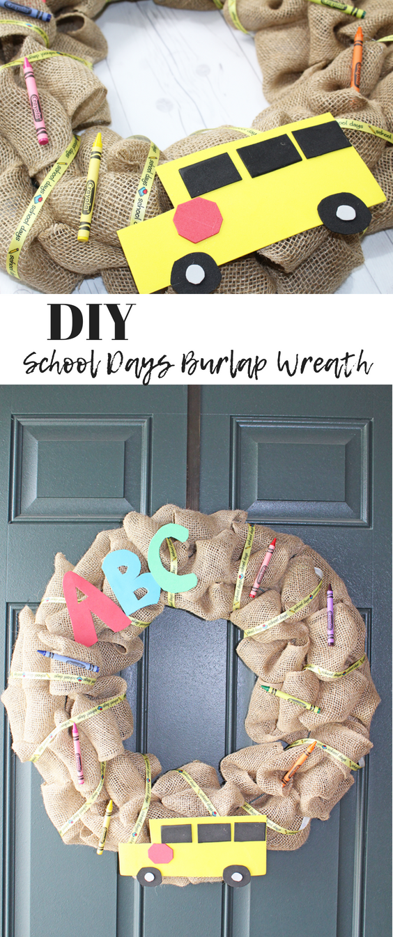 "DIY School Days Burlap Wreath"" /></div> <div class="