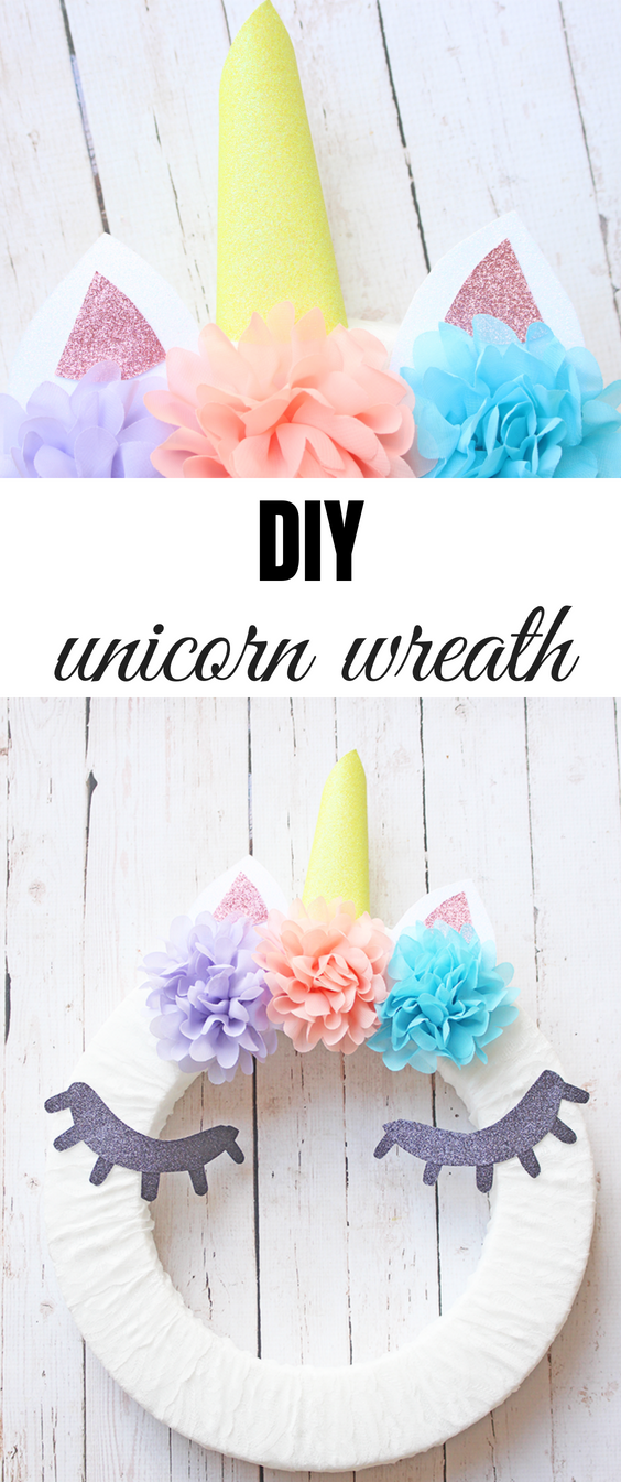 DIY Unicorn Wreath